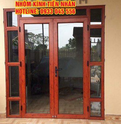cửa nhôm Xingfa vân gỗ đẹp